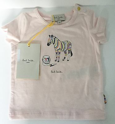 PAUL SMITH Baby Girl T Shirt Top Age 3 Months NEW