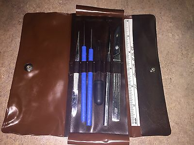 Hamilton Bell Co Inc. Biology/lab Dissection Kit  With Faux Leather Travel Case