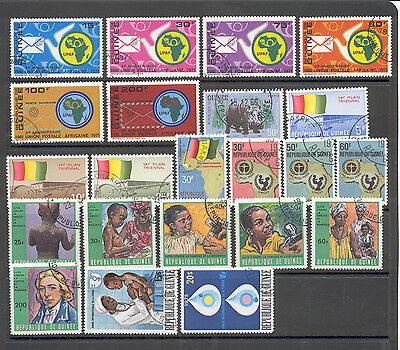 Guinee - Lot of canceled Stamps