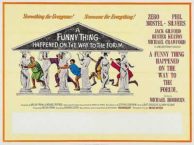 "A Funny thing happened on the way to Forum 16"" x 12"" Repro Movie Poster Photo"