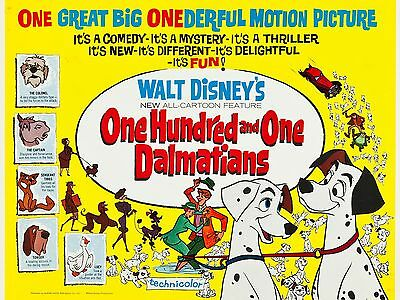 "101 Dalmations 16"" x 12"" Reproduction Movie Poster Photograph"