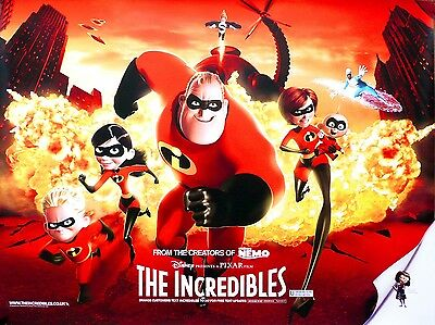 """The Incredibles 16"""" x 12"""" Reproduction Movie Poster Photograph"""
