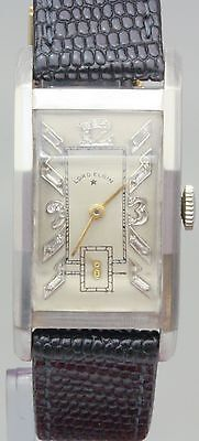 Vintage Lord Elgin Solid Platinum & Diamond Hand Winding Movement Watch