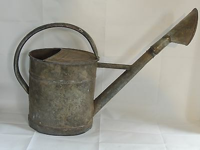 Vintage Metal Galvanised Watering Can Garden Planter ~  Shabby Chic