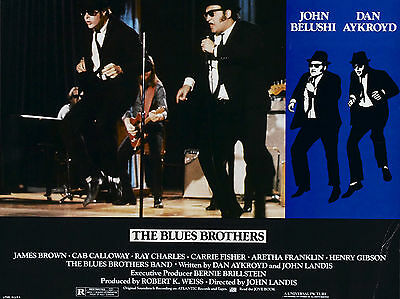 """The Blues Brothers 1980 16"""" x 12"""" Reproduction Movie Poster Photograph"""