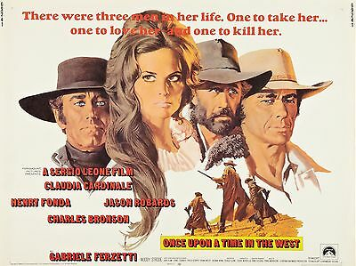 """Once upon a time in the west 16"""" x 12"""" Reproduction Movie Poster Photograph"""