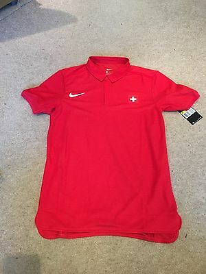 Nike Court Roger Federer Advantage Men's Tennis Polo Red Size Small