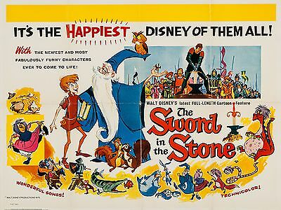 """Sword in the Stone 16"""" x 12"""" Reproduction Movie Poster Photograph"""