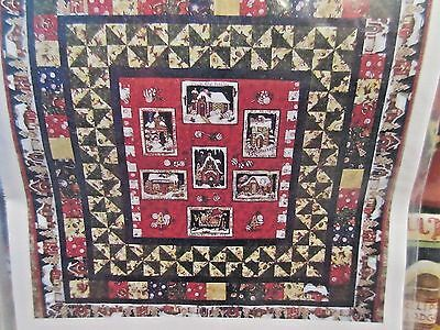 """PEPPERMINT COTTAGE CHRISTMAS Quilt KIT by Sue  52 x 52"""""""