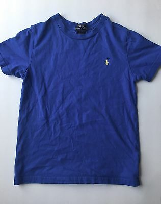 Boys Polo Ralph Lauren Short Sleeve T-Shirt Size 7 Blue