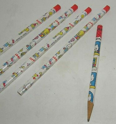 New Lot Vintage 1976 Sanrio Hello Kitty Square Circus HB Lead Pencil Collectible