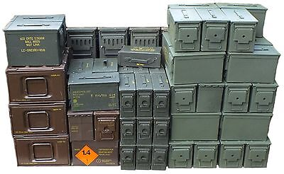 Ammo Tin  Army Ammo Storage Ammunition Tin Tool Box