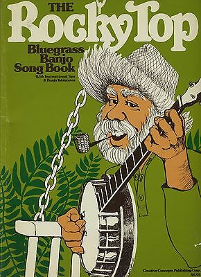 THE ROCKYTOP BLUEGRASS BANJO SONG BOOK w TABS & Tips 64 pages 1982 music lyrics