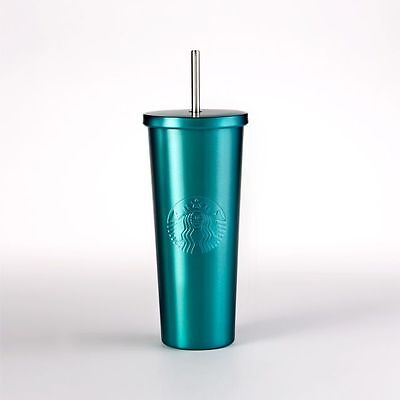 NEW Starbucks Stainless Steel Cold Cup TURQUOISE Venti 24 oz.