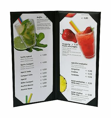 """Menu Cover(Packed of 5 Pcs)4"""" 3/4"""" X 11"""" Inches Double ViewSold By Case"""