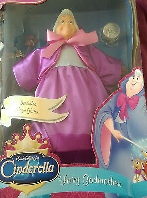 Rare Disney Cinderella Fairy Godmother Doll.
