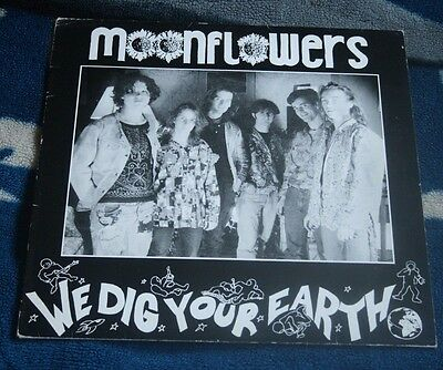 """Moonflowers We Dig Your Earth 1988 Uk 12""""  The Electric Stars E.s.t.t.001"""