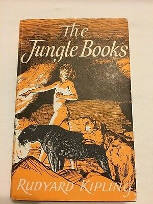 The Jungle Books Rudyard Kipling illustrated by Stuart Tresilian 1955 edition