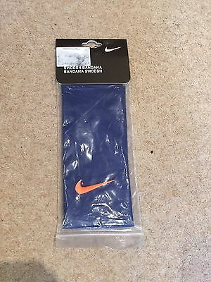 Nike Tennis Swoosh Bandana Headband Blue/orange Federer Nadal Very Rare