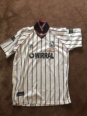 Tranmere rovers football shirt match worn worthington cup final Leicester city