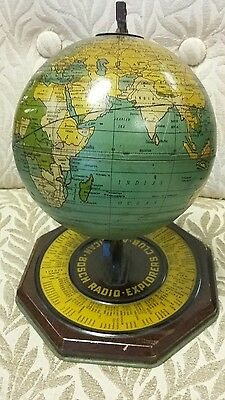 American Bosch Radio Explorers Club Globe metal short waves vintage 1920's 30's