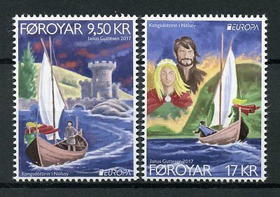 Faroes Faroe Islands 2017 MNH Castles Europa 2v Set Architecture Ships Stamps