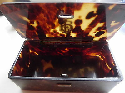 Vintage Silver / Gold And Tortoise Shell  Box