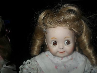 """VINTAGE GOOGLY DOLL REPRODUCTION NOT SURE  16"""" tall GERMANY"""