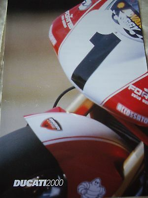 Ducati 2000 range brochure/ technical poster, Carl Fogarty WSBK