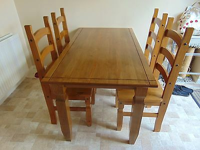 Wooden Table and 4 Chairs -- Collection Only Bristol