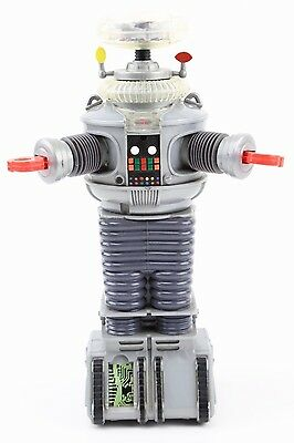 "LOST IN SPACE B9 B-9 ROBOT 10"" Vintage 1997 Figure Battery Operated Space Toy"