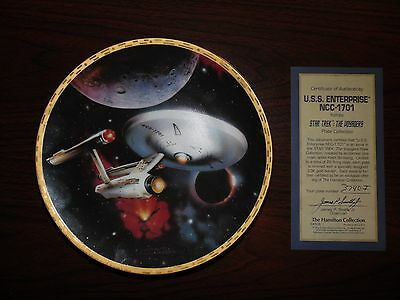 """u.s.s. Enterprise Ncc-1701"" From The Star Trek The Voyagers  Plate Collection."