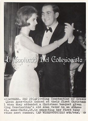 King Constantine of Greece e Queen Anne-Marie Athens Press photo Royalty CBBC1