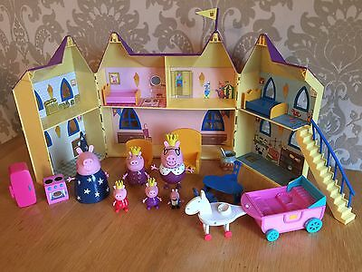 Peppa Pig Castle Playset - With Figures And Accessories