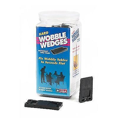 Wobble Wedge - Hard Black - Table Shims - 75 pc New