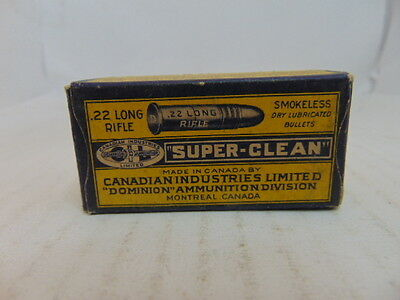 1 Empty Canadian Industries Limited Smokeless 22 Long Rifle Shell Box