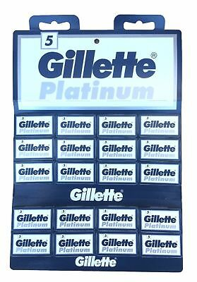 100 Gillette Platinum DE double edge razor blades | Tracking Code Provided