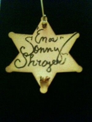 "Sonny ""Enos"" Shroyer HAND SIGNED Dukes of Hazzard Deputy Sheriff Replica Badge"
