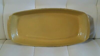 Frankoma Pottery #5Q Long Dish yellow/gold