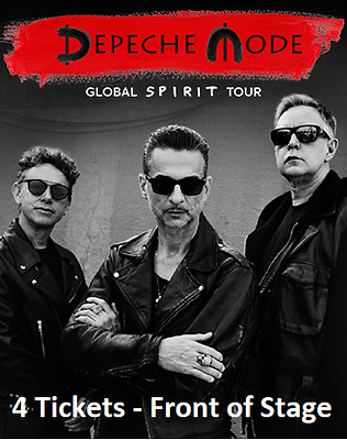4 Tickets | Depeche Mode | Front of Stage FOS | Lanxess Arena Köln | 15.01.2018