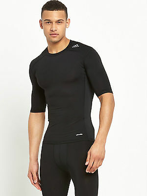 adidas Tech Fit Base Layer T-Shirt - Black - UK S