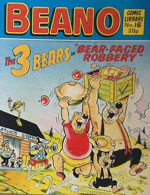 Beano Comic Library 16 The 3 Bears in Bear Faced Robbery