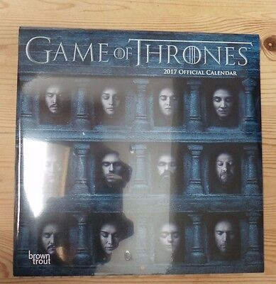 Official Game of Thrones 2017 Wall Calendar - New BNIW FREE POSTAGE
