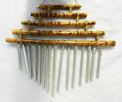 Hand Made Bamboo and Metal Pipe Windchime - BNWT