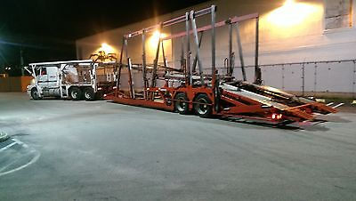 1991 Gmc Volvo Car Carrier With A 1999 Cottrell Trailer