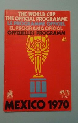 world cup 1970 Mexico official programme