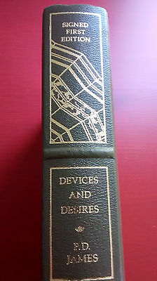 DEVICES AND DESIRES P.D. James Signed First 1st Edition Franklin Library