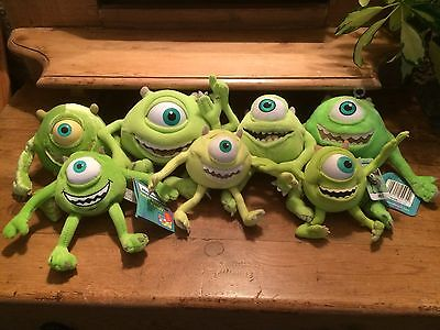 Collection Of Monsters Inc Mike Soft Toys From The Original Film