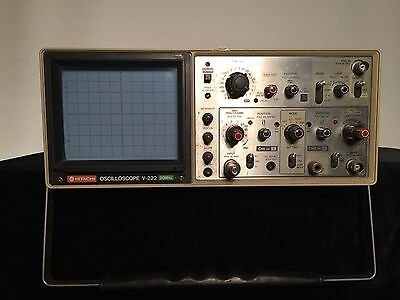 Hitachi V-222 20MHz Analogue Oscilloscope dual trace 2 channel
