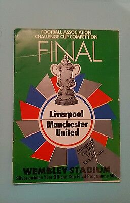 Liverpool V Manchester United 77 F A Cup Final